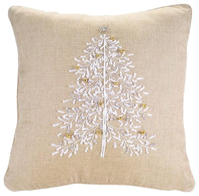 Decorative Christmas Pillows Throws : Christmas Tree Pillow - Traditional - Decorative Pillows - by Melrose International LLC