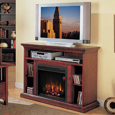 Beverly Electric Fireplace Tv Stand In Premium Cherry 23mm374 C202 Traditional Indoor
