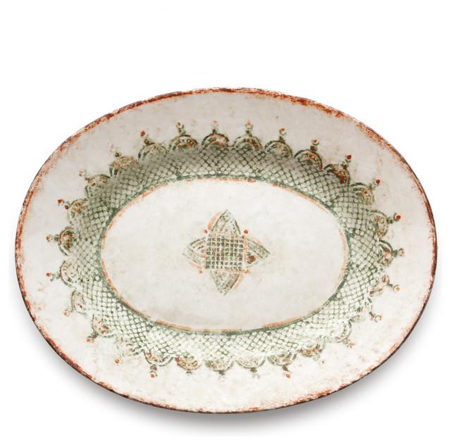 Mediterranean Style Dinnerware: Chianti Large Oval Platter