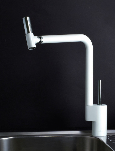 Webert 360 Kitchen Faucet In White Chrome Modern