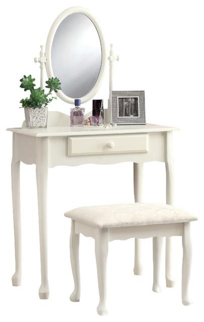 monarch specialties 3412 2 piece vanity set in antique white  traditional bedroom and. Makeup Vanity Set White   Mugeek Vidalondon