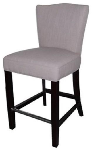 "fabric stool light gray 26"" counter seat height"
