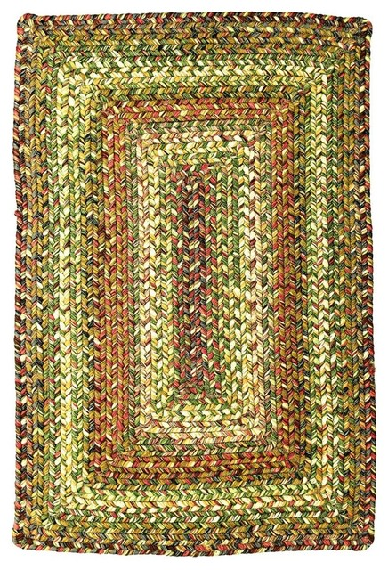 Homespice Rainforest Indoor Outdoor Farmhouse Braided Rug Farmhouse Outdo