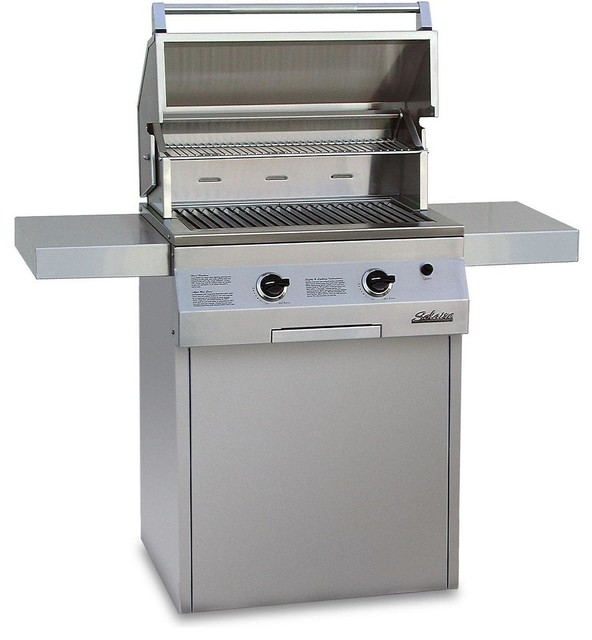 solaire 27 xl infravection natural gas grill on cart one