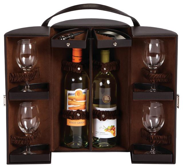 brown wine rack 3
