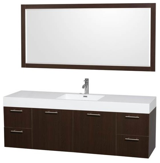 Wyndham Amare 72 Inch Single Bathroom Vanity Modern Bathroom Vanities And Sink Consoles By