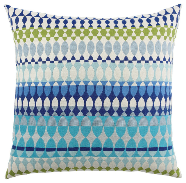 Elaine Smith Modern Oval Ocean Pillow Contemporary Outdoor Cushions And Pillows