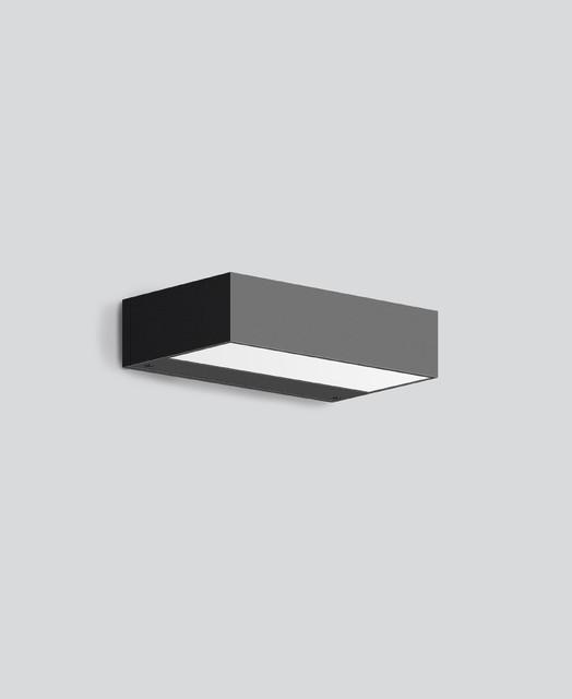 bega wandleuchte mit zweiseitigem lichtaustritt led. Black Bedroom Furniture Sets. Home Design Ideas
