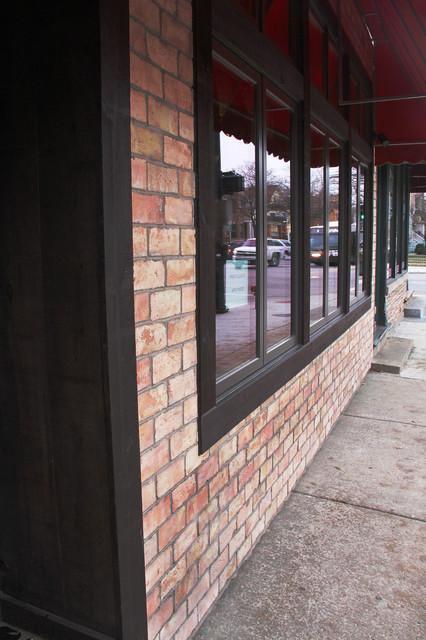Chicago brick veneer modern chicago by colonial brick for Modern brick veneer