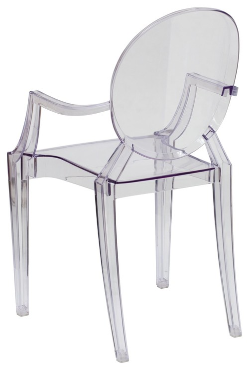 Flash Furniture Ghost Chairs Crystal Transparent Ghost Chairs