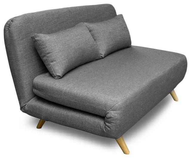 canap convertible et modulable 2 places john couleur gris souris scandinave canap lit. Black Bedroom Furniture Sets. Home Design Ideas