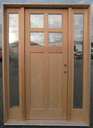 Solid Vg Fir 4 Lite Craftsman Entry Sds Traditional