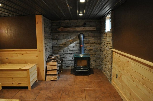 Finished Basements Rustic