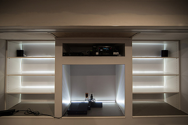 LED Entertainment Center And Media Room Lighting Traditional Home Theater St Louis By