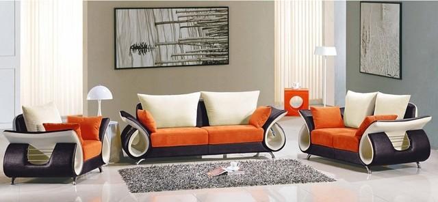 Lucas Fabric 3 Piece Sofa Set Contemporary Living Room Furniture Sets B