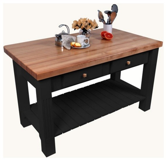Grazzi Kitchen Island With 8 Drop Leaf By John Boos Traditional Kitchen Islands And Kitchen