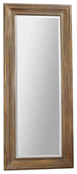 Uttermost filiano wood floor mirror contemporain for Miroir a poser par terre