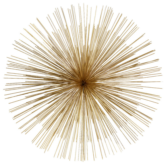wallflowers starburst wall art gold contemporary wall sculptures by two 39 s company. Black Bedroom Furniture Sets. Home Design Ideas