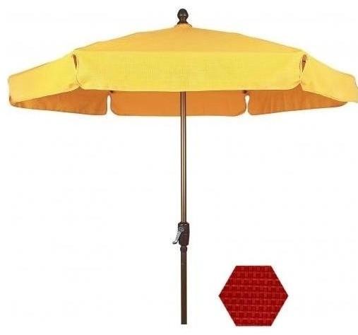 7 5 ft aluminum garden patio umbrella modern