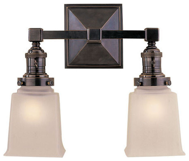 Bathroom Vanity Lights Traditional : Visual Comfort Lighting E.F. Chapman Boston 2 Light Bath Wall Light - Traditional - Bathroom ...