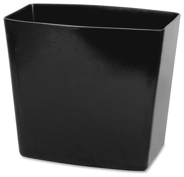 Oic waste container 5 gallon capacity 12 5 x13 8 x8 modern wastebaskets by bisonoffice - Modern wastebasket ...