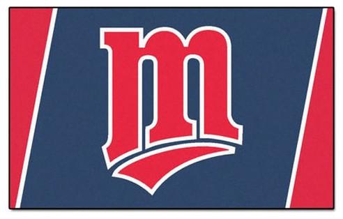 Mlb Minnesota Twins Baseball Large 4 X 6 Accent Area Rug