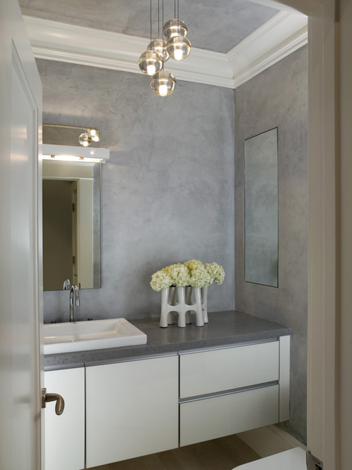Beautiful Powder Room Who Manufactures The Pendant Lights