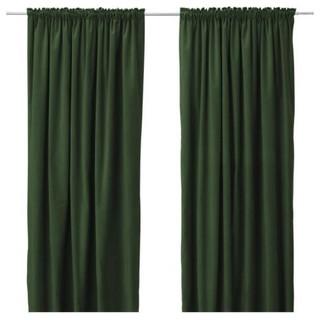 IKEA Dark Green Curtains