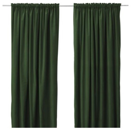 IKEA dark green curtains - Curtains