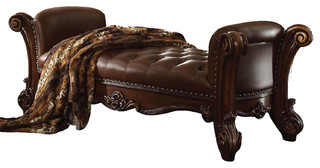 Acme Vendome Bench Cherry Victorian Accent And Storage Benches By Bedroom Furniture Discounts