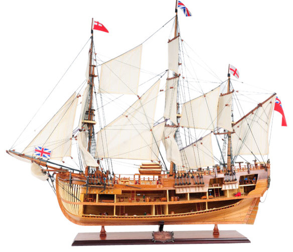 Hms endeavour open hull model home decor by old for Home decor hull limited