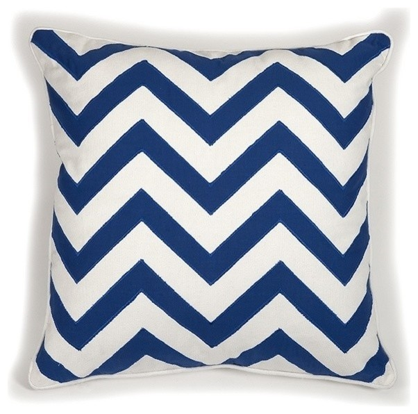 Essentials Marine Blue Pillow - Modern - Decorative Pillows - by Posh Urban Furnishings