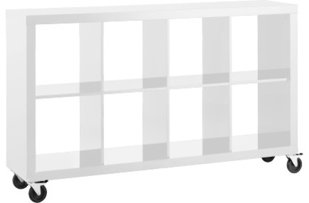 Magna tag re laqu e basse blanche contemporary bookcases other metro - Etagere blanche laquee ...
