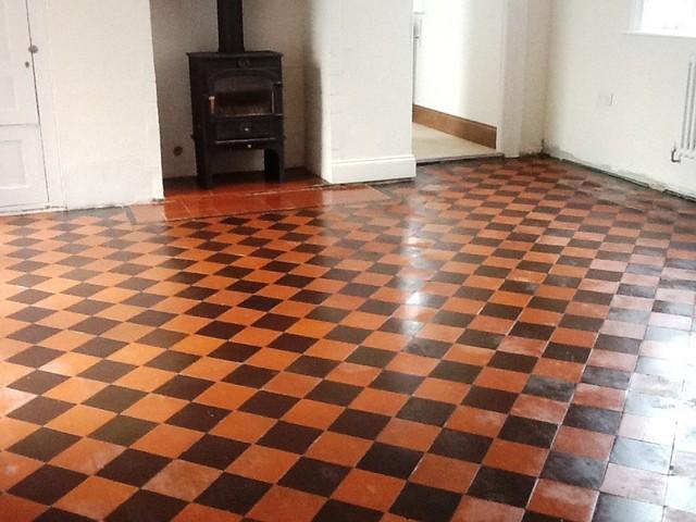 Restoring A Victorian Quarry Tiled Kitchen Floor In
