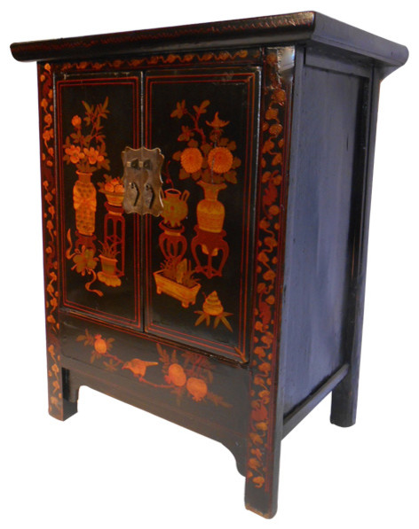 "32"" H Chinese Antique Shoe Cabinet - Asian - Accent Chests And Cabinets - by Oriental Furnishings"