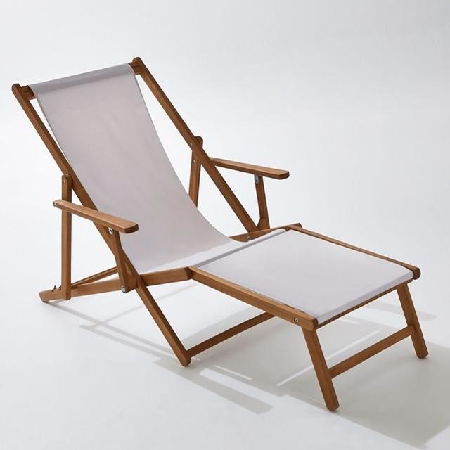 Chaise longue acacia et toile modern gartenliegen - La chaise longue saint lazare ...