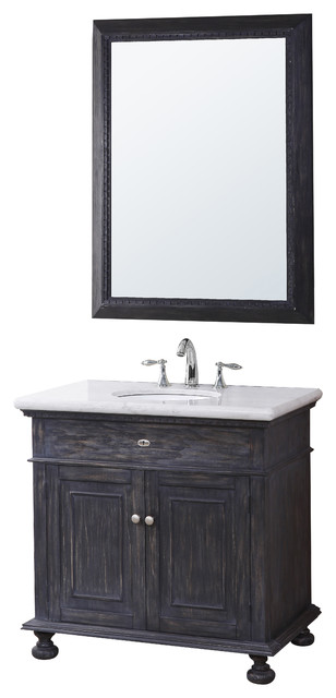 Lincoln Vanity Wood Base With Stone Top And Sink