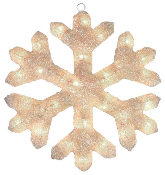 Lighted snowflake window or yard decoration cream 20 for 16 lighted snowflake christmas window silhouette decoration