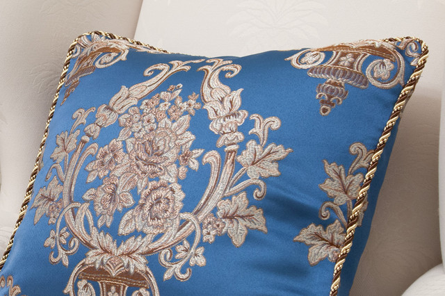 Deep Blue Throw Pillows : Fabric decorative pillow - deep blue lantern - Decorative Pillows - seattle - by Celuce