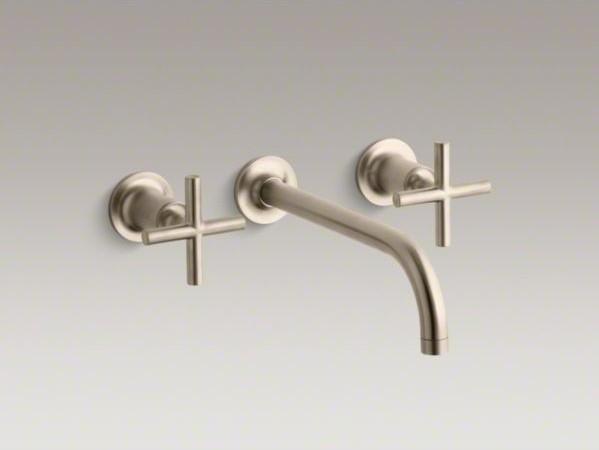 Kohler Purist R Wall Mount Bathroom Sink Faucet Trim With
