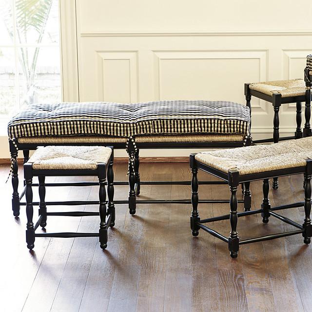 Kitchen Bench With Cushion: Farmhouse 3-Seat Bench Cushion