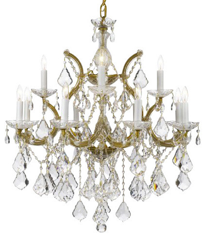 Crystal chandelier traditional chandeliers by gallery - Traditional crystal chandeliers ...