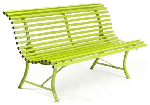Modern Outdoor Benches : Louisiane Bench - Modern - Outdoor Benches - by YLiving.com