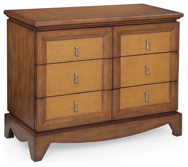 Bassett Mirror Bimini 6 Drawer Chest Tropical Dressers