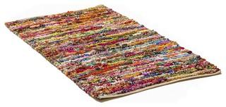 tapis en coton color 140x200 cm bafra contemporain tapis de d coration par beliani france. Black Bedroom Furniture Sets. Home Design Ideas