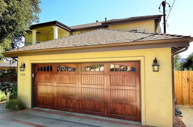 Spanish Design Wood Garage Door Model Name Americana
