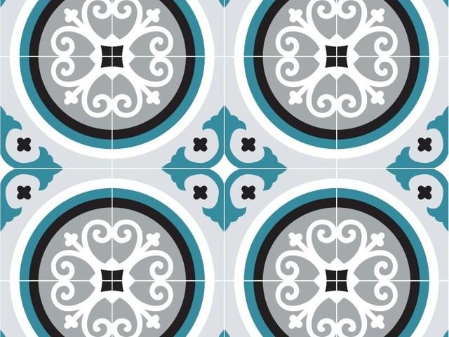 rosace bleu paon. Black Bedroom Furniture Sets. Home Design Ideas