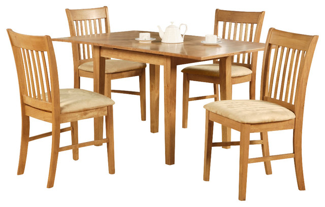 5 Piece Dinette Set For Small Spaces Table And 4 Dining