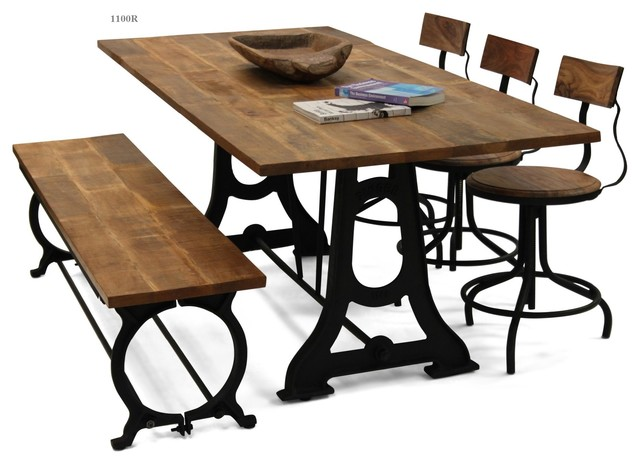 collection rustique industriel ensemble table et chaises bistrot autres p rim tres par. Black Bedroom Furniture Sets. Home Design Ideas