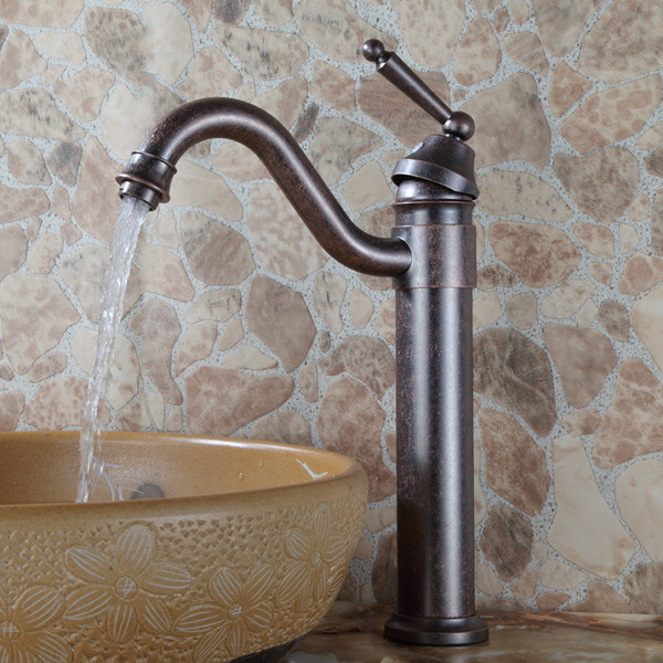 Bathroom vestige oil rubbed bronze lavatory long spout Mid century modern bathroom faucets